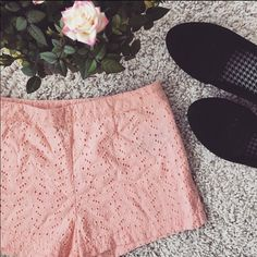 Forever 21 shorts For ever 21 peach lace high wasted shorts Forever 21 Shorts