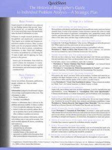 The Historical Biographer's Guide to Individual Problem Analysis: A Strategic Plan (Quicksheet): Elizabeth Shown Mills: 9780806318950: Amazon.com: Books