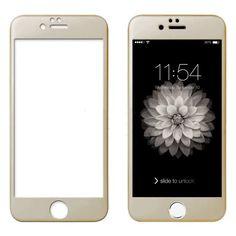 Protector de pantalla de cristal templado 3D color Oro para Iphone 6 Plus y 6S Plus. 4,29€ sólo en http://moviliario.es #Iphone6 #Iphone6Plus