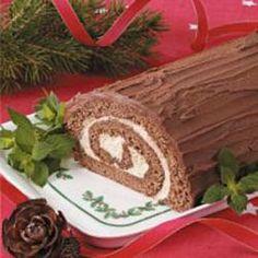 Chocolate Yule Log Allrecipes.com
