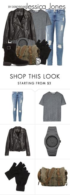 """Jessica Jones"" by leslieakay ❤ liked on Polyvore featuring Frame Denim, T By Alexander Wang, H&M, CC, Elyse Walker Los Angeles, women's clothing, women's fashion, women, female and woman"