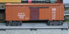 Lionel postwar # 6454 New York Central tan boxcar.