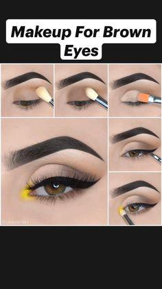 Nose Makeup, Eyebrow Makeup Tips, Eye Makeup Steps, Makeup Eye Looks, Eyeliner Looks, Makeup For Brown Eyes, Brown Eyeshadow Looks, Natural Eyeshadow Looks, Neutral Eyeshadow