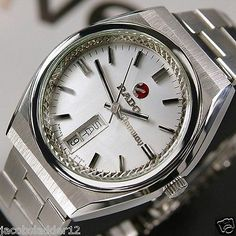 RADO Conway Mens AUTOMATIC Day/Date Silver Grey Dial Swiss Rare Vintage Watch
