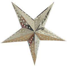 Silver Foil Star Lantern