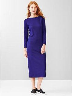 Boatneck zip-back midi dress | Gap