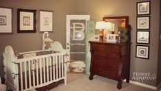 Vintage Baby Boy Nursery - features vintage barn elements that are perfect for a shabby chic nursery!