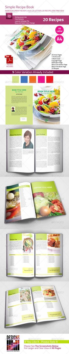 Recipe Book by designsmill DetailsInDesign File with Properly organized layers 26 Pages Professional fully Editable InDesign File