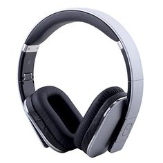 August Bluetooth Wireless Over Ear Headphones with aptX LL Low Latency/Multipoint/NFC / Audio in/Headset Microphone - Silver Wireless Headphones With Mic, Headphones With Microphone, Headphone With Mic, Over Ear Headphones, Audio In, Headset, Mobile Phones, Laptops, Amazon