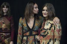Backstage with #Etro's #AW15 #MFW collection.