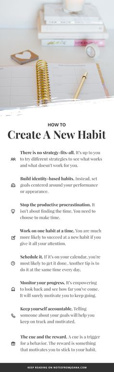 How To Create A New Habit & Actually Stick To It // Notes from Joana