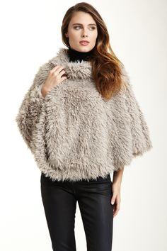 Velvet Harper Faux Fur Poncho, kinda reminds me of the 70's!