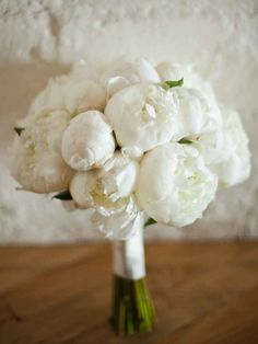 Bridal Bouquets and Wedding Flowers: Bouquet with White Peonies