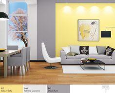 Salon wkolorze żółtym