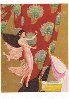 Illustration by Rudolf Koivu Briar Rose, Fairytale Fantasies, Children's Book Illustration, Book Illustrations, Old Art, Vintage Children, Grimm, Illustrators, Fairy Tales