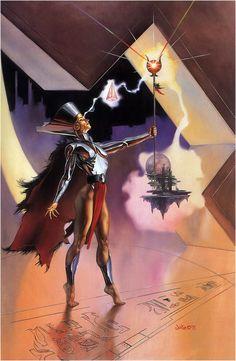 "Boris Vallejo & Julie Bell - Julie Bell : ""Empress Of A New World"" Julie Bell, Boris Vallejo, Jim Warren, John Howe, Bell Art, Fantasy Posters, Alternate Worlds, Fantasy Warrior, Fantasy Heroes"