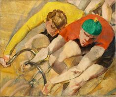 View SECHSTAGERENNEN II - By Max Oppenheimer; Oil on canvas; 72 x 87 cm ⅜ x 34 ¼ in. Access more artwork lots and estimated & realized auction prices on MutualArt. Max Beckmann, Max Oppenheimer, Meret Oppenheim, Ludwig Meidner, Bike Art, Art For Art Sake, Figure Painting, American Art, Oil On Canvas