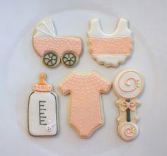 Baby shower cookies