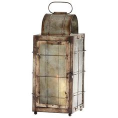 Old Timer Iron and Glass Lantern is part of Home Accessories Candles Decor Harken back to a bygone era with the rustic traditionalism of the Old Timer candleholder Featuring iron construction and g -