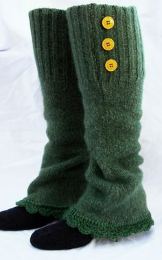 Wool leg warmers recycled bulky sweater womens by GloriousMorn, $26.00