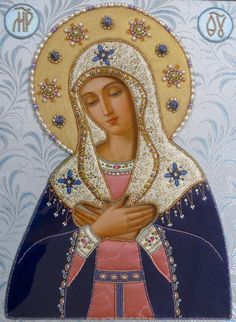 Tenderness Icon of the Mother of God (of St Seraphim and Diveevo). Икона в…