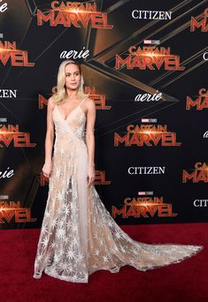 Brie Larson In Rodarte – 'Captain Marvel' LA Premiere Red Carpet Ready, Red Carpet Looks, Dress Outfits, Dress Up, Valentino Gowns, Vogue, Brie Larson, Glamour, Queen