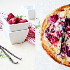 Finnish Baked Pancake -     500 ml milk.  2 eggs.  1 cup normal flour.  1/4 cup melted butter or olive oil.  2 tbsp sugar.  A pinch of salt.  1/2 tsp vanilla essence or powder.  Topping: some fresh or frozen raspberry and some sugar.