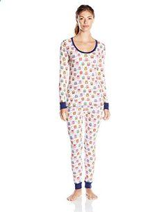 St. Eve Women's Thermal Pajama Two-Piece Set (Monkey Business ...
