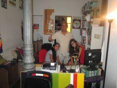 Con Manuel Vanegas y su hija Sofía en Sodepaz.