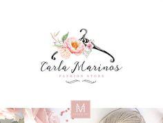 Moda Logo Logo floreale Shabby Chic Boutique Boutique Logo