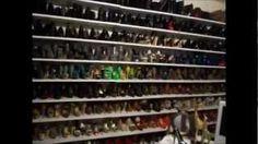 Closet Tour & Organization Tips, via YouTube. Great DIY shoe shelves