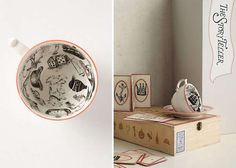The Fortuitous Cup and Saucer by Molly Hatch Gives Drinkers a Prediction #teacups trendhunter.com