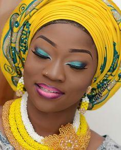 Wow! Makeup by @bolalittlenefertiti ! #NigerianWedding