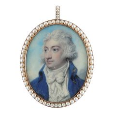Old Masters, British & European Paintings - 04 Mar 2020 LOT 11 Portrait miniature of a gentleman in a blue coat with gold buttons by Richard Cosway RA Estimate: - Miniature Paintings, European Paintings, Blue Coats, Old Master, Wallis, 18th Century, Masters, Gentleman, Old Things