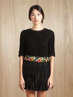 James long embroidered dress