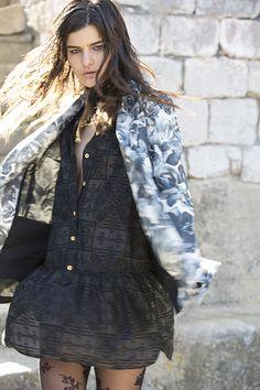 'the source' jacket and 'navigates in the dark' dress Cotton Spandex, Breast, Denim, Dark, Coat, Jackets, Collection, Dresses, Women