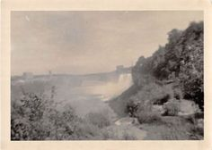 Photograph Snapshot Vintage Black and White: River Waterfall Shore 1940's