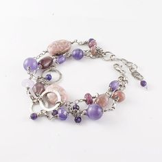 Gemstone bracelet sterling silver bracelet by SylviaArtGallery, $125.00