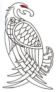 Viking eagle tattoo flash