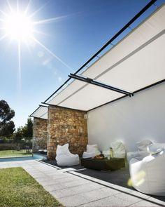 Ideas Modern Outdoor Living Room Design Concept Home Furniture Modern Outdoor Living, Modern Outdoor Furniture, Outdoor Rooms, Outdoor Decor, Pergola Plans, Diy Pergola, Pergola Kits, Cheap Pergola, Wooden Pergola