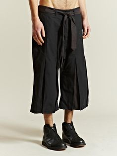 SASQUATCHfabrix Men's Hakama Cropped Trousers