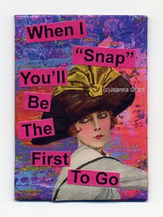 "Joanna Grant Mixed Media Art: Small Format Art Samples... ""I thought Id share with you some of the small format art I have been working on over the past few weeks. Ive been putting all those pages of Gelli printed paper to good use with them.  ...When I Snap is an ACEO/ATC.  All are available for sale."""