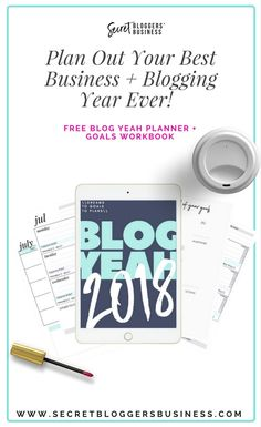 Want to make 2018 your best year ever in your blog + business? Come + join me in downloading this gorgeous digital planner designed just for online business owners + bloggers (+ it comes with an awesome FREE workbook to help turn your dreams into goals into plans into dones!)