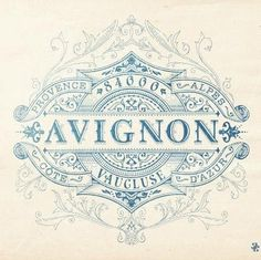 """french ephemera - would be fun to do and change """"Avignon"""" to last name and use as pretty wall art"""