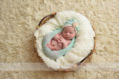 Mint Stretch Knit Baby Wrap | Beautiful Photo Props