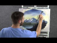 Paint with Kevin Hill - Unedited Soft Mountain Oval wet on wet HD - YouTube