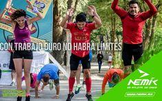 No límites tus retos, mejor reta a tus limites!! #SeAtleta #SeÚnico #SeNemik http://nemik.mx/
