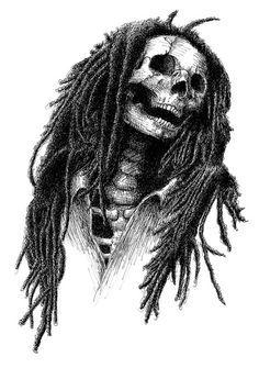 Bob Marley Skull Art