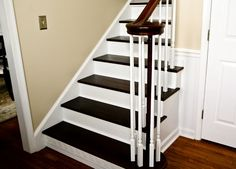 beautiful stairs- I really want these for my stairway!!