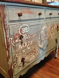 Repurposed Gems: A Little French Dresser - http://www.homedecoz.com/home-decor/repurposed-gems-a-little-french-dresser/